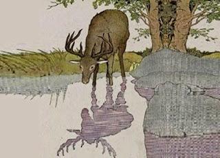 L'immagine riflessa del cervo (Esopo)