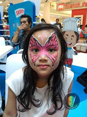face painting kupu-kupu