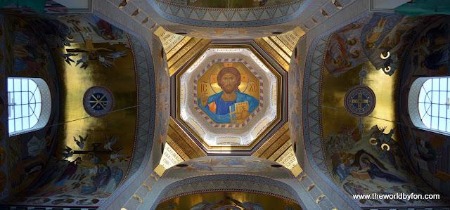 Teto do domo principal da Igreja do Sangue, Ecatimburgo