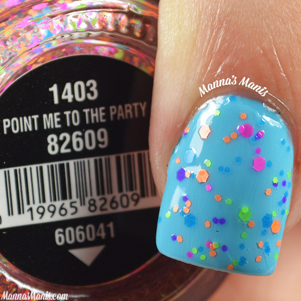 China Glaze Electric Nights Point me to the Party swatches