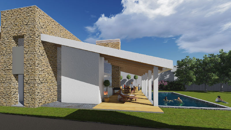 Progettare una villa con patio blog di arredamento e interni dettagli home decor - Progetto villa con piscina ...