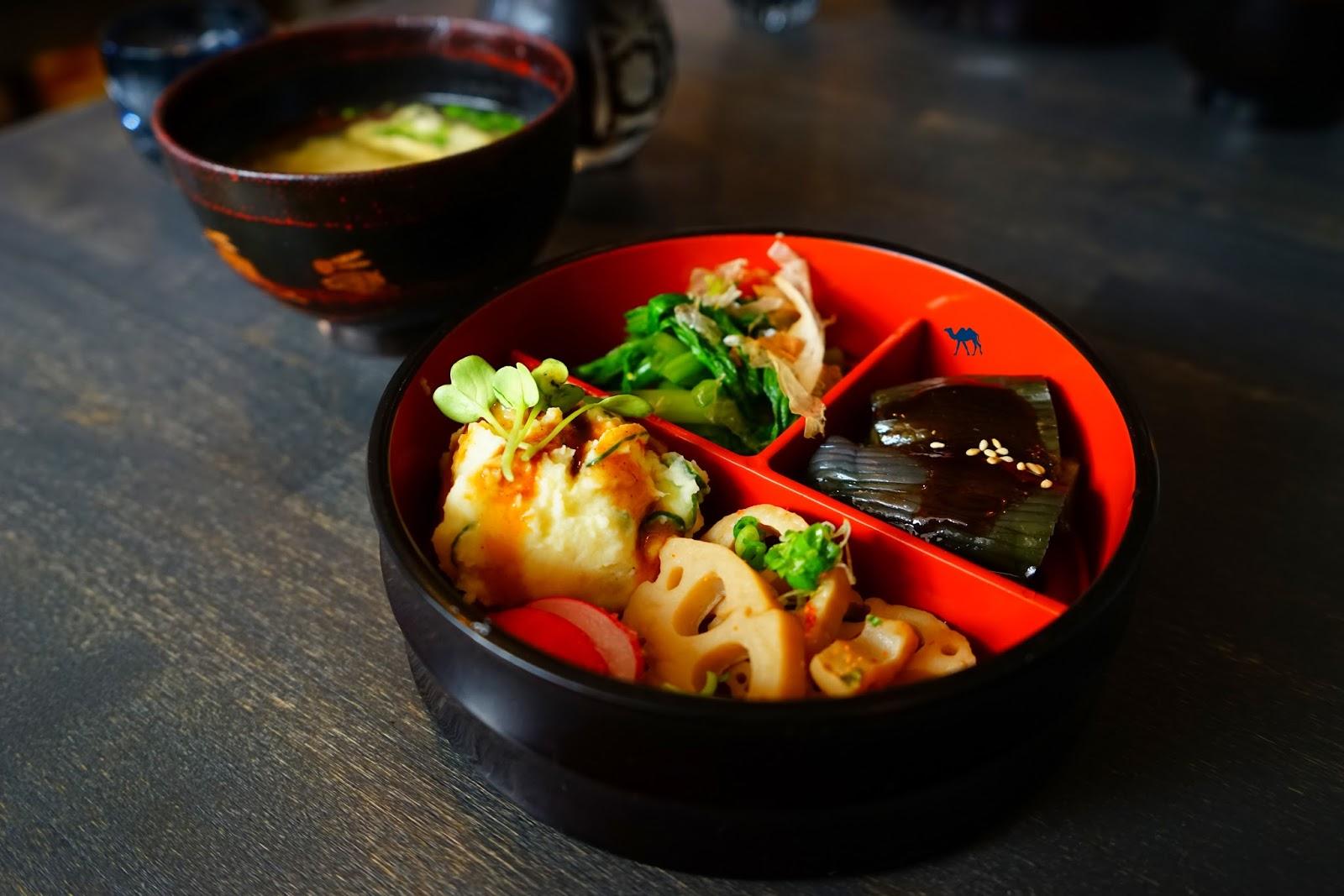 Lengué Menu Bento - Le Chameau Bleu - Restaurant Japonais Paris - Isakaya Lengué
