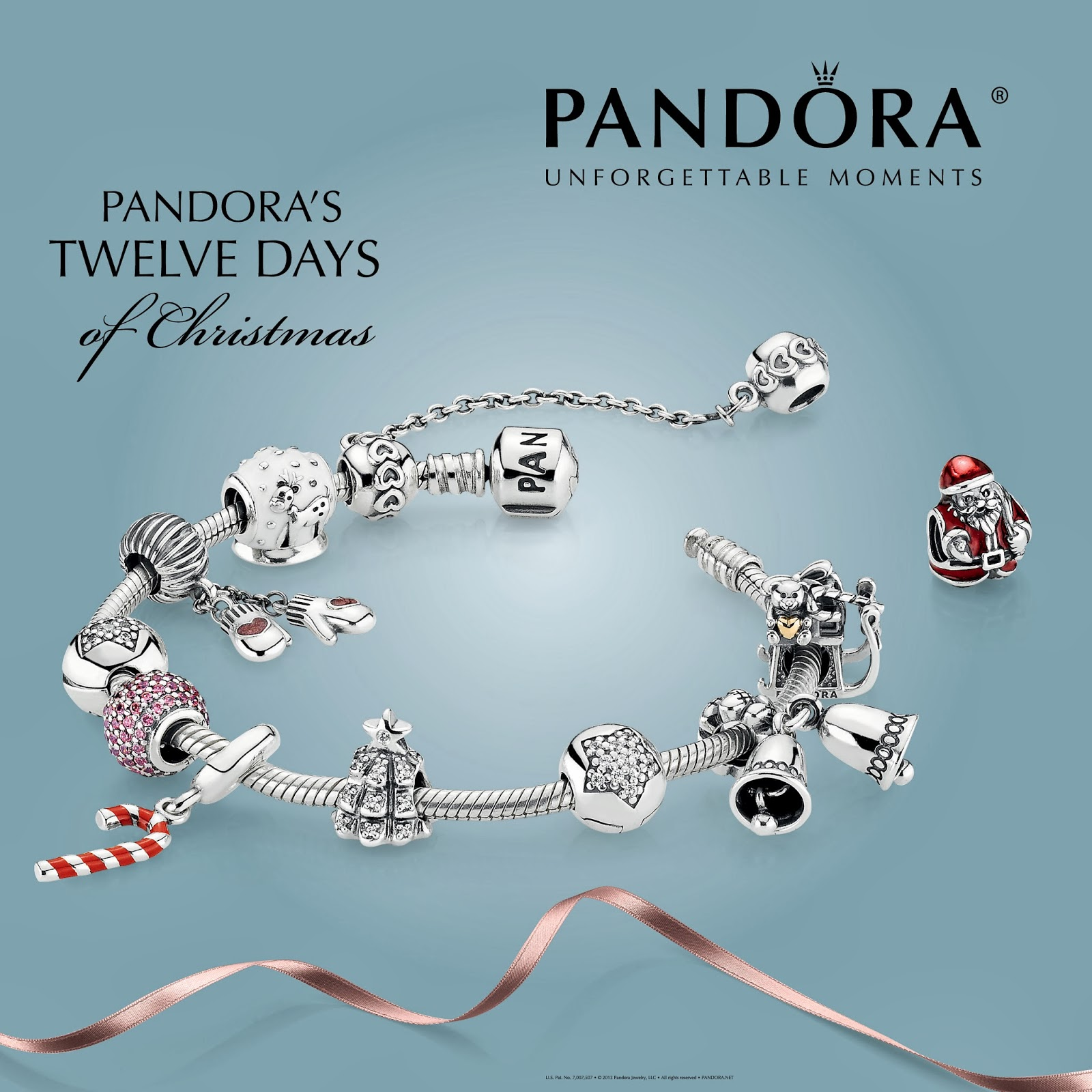 12 days of christmas charms