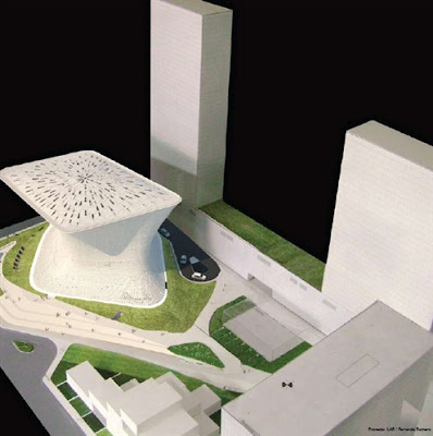 maqueta El museo Soumaya en la ciudad de México