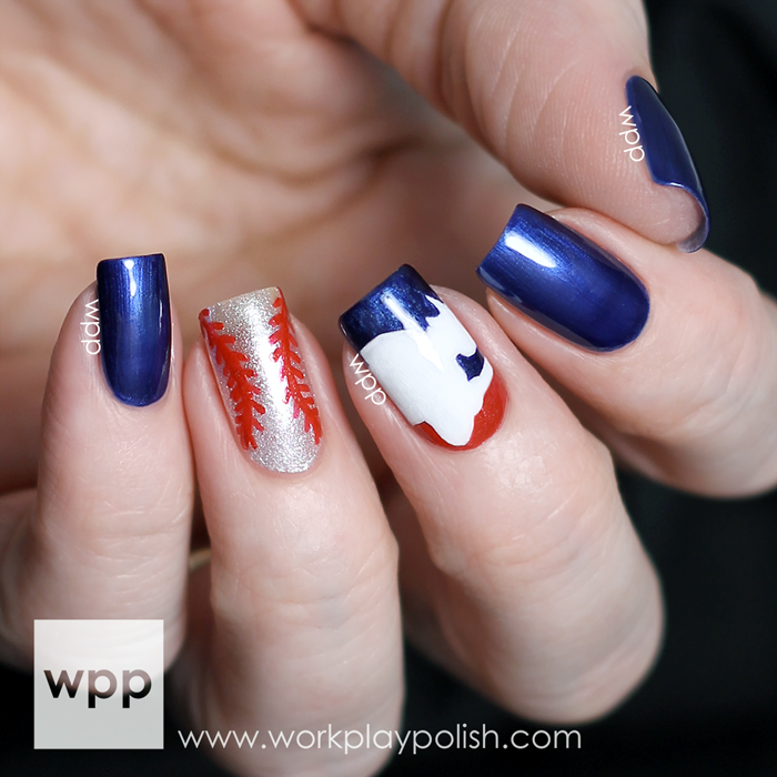 OPI Fashion Plate Collection Major League Baseball Collaboration Nail Art