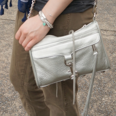 Rebecca Minkoff metallic silver mini MAC | away from the blue
