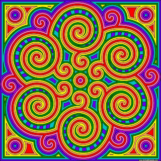 swirl mandala to print and color- blank available