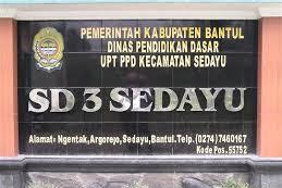 Profil Perpustakaan Sekolah SD Negeri 3 Sedayu, Desa Argorejo, Bantul Yogyakarta