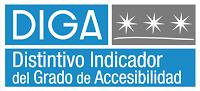 DIGA. Tres estrellas. Distintivo Indicador del Grado de Accesibilidad.