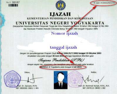 nomor ijazah sarjana universitas perguruan tinggi politeknik