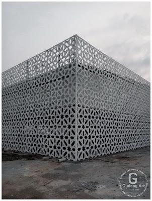 Pagar Masjid Cor Aluminium