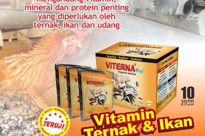 Viterna Nasa, Manfaat Vitamin Plus Ternak Organik untuk Burung, Ayam Pedaging, Sapi, Kambing dan Harga Resmi