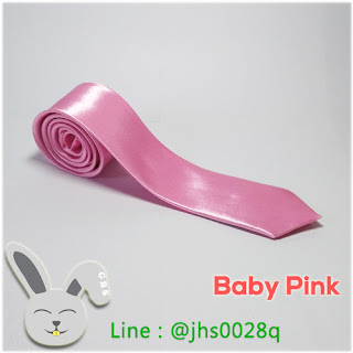 baby pink slim tie gelvy bunny shop