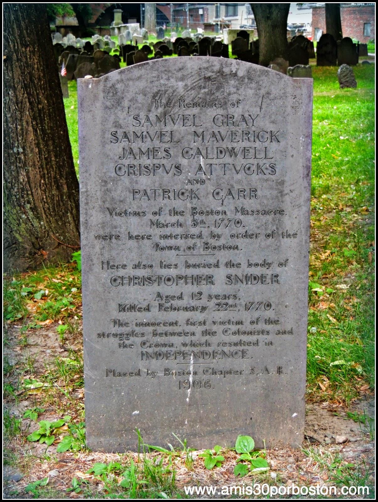 Víctimas de la Masacre de Boston