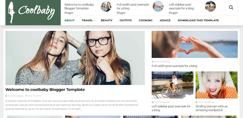 CoolBaby Fashion Free Blogger Template