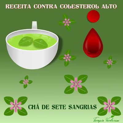 Receita contra colesterol alto: chá de sete sangrias