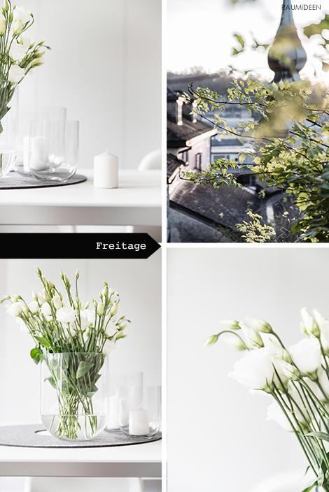 Blumendeko mit Japanrosen.