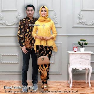 Batik Couple Kabaya Brokat Dewi Sinta Panjang