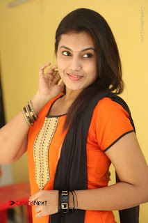 Telugu Actress Chandana Stills in Salwar Kameez at Karam Dosa Movie Press Meet  0055.JPG
