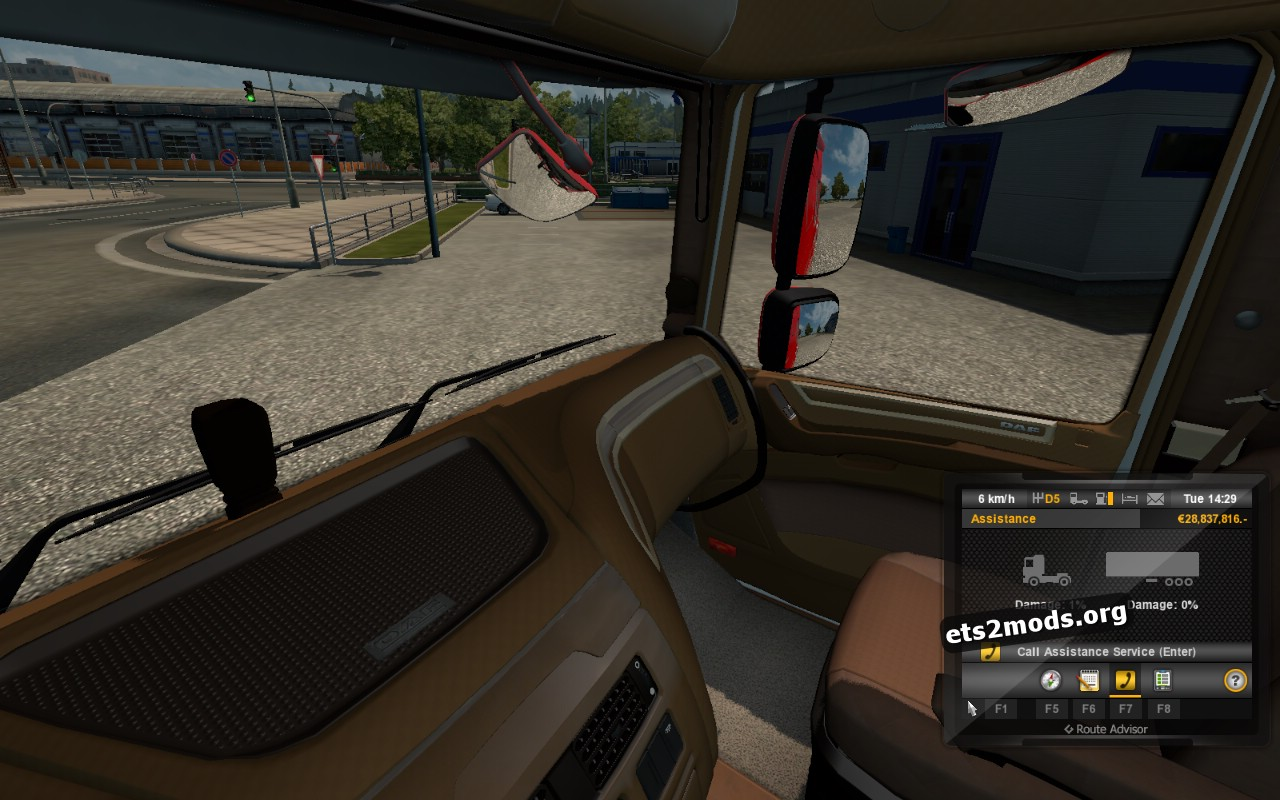 Brown Interior for DAF Euro 6