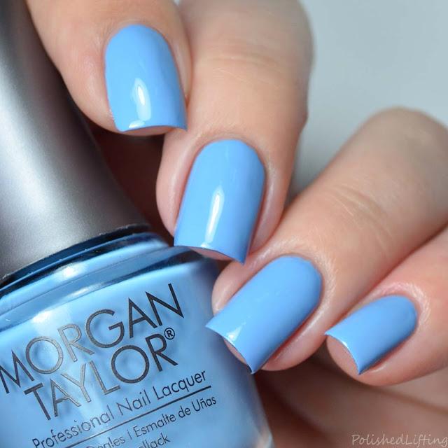 baby blue creme nail polish
