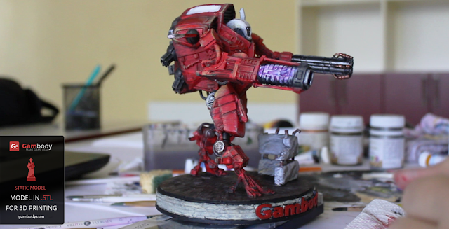 TAU XV109 Y'Vahra 3D Model from Warhammer40k   40K 3D Models by Adam
