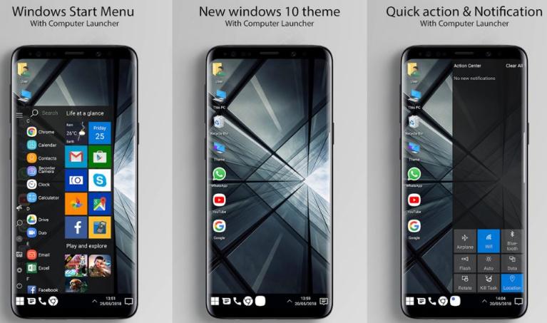 Cara Mudah Ubah Tampilan Android Jadi Windows 10