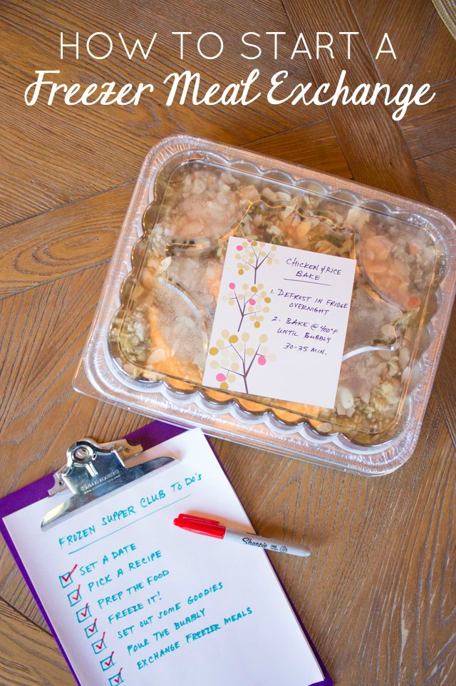 8 helpful tips for staring a freezer meal exchange / frozen supper club!