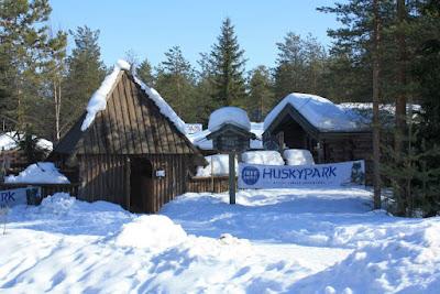 Husky Park beside Santa Claus Village in Finland