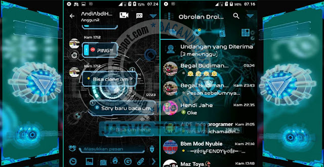 Download BBM Mod Droid Chat v11.1.1.18 Apk Terbaru Clone Unclone base 3.0.0.18