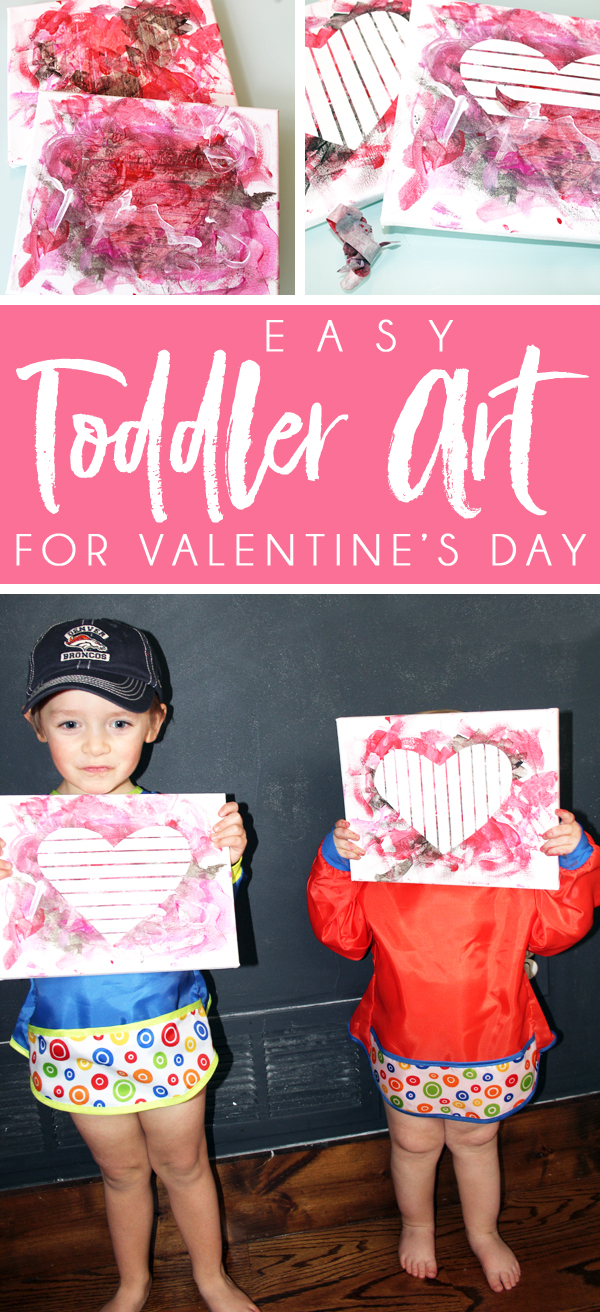 Easy Toddler Heart Art Project