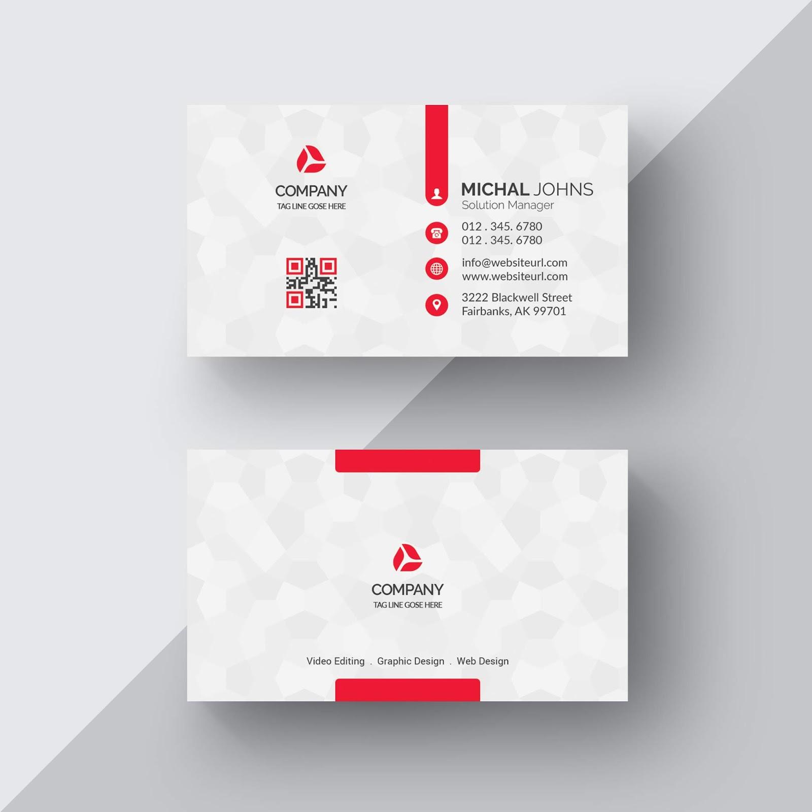 تحميل ملف Psd Business Card جاهز للتعديل على الفوتوشوب White