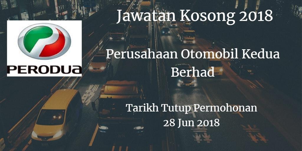 Jawatan Kosong PERODUA 28 Jun 2018