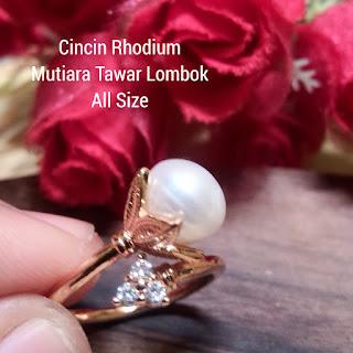 Cincin Mutiara Lombok Air Tawar