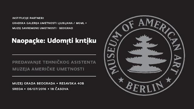 Predavanje tehničkog asistenta Muzeja američke umetnosti
