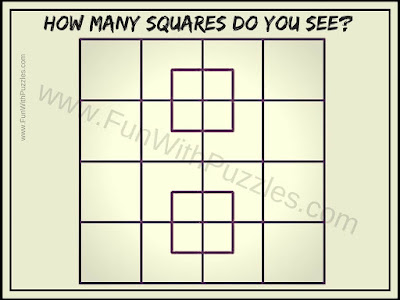 Brain Teaser to count number of squares in grid picture