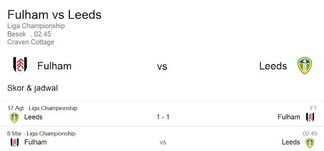 Prediksi Skor Fulham vs Leeds United | Polisibola.com
