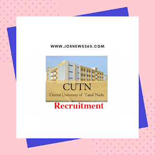 Central University of Tamil Nadu Walk-IN for Project Assistant