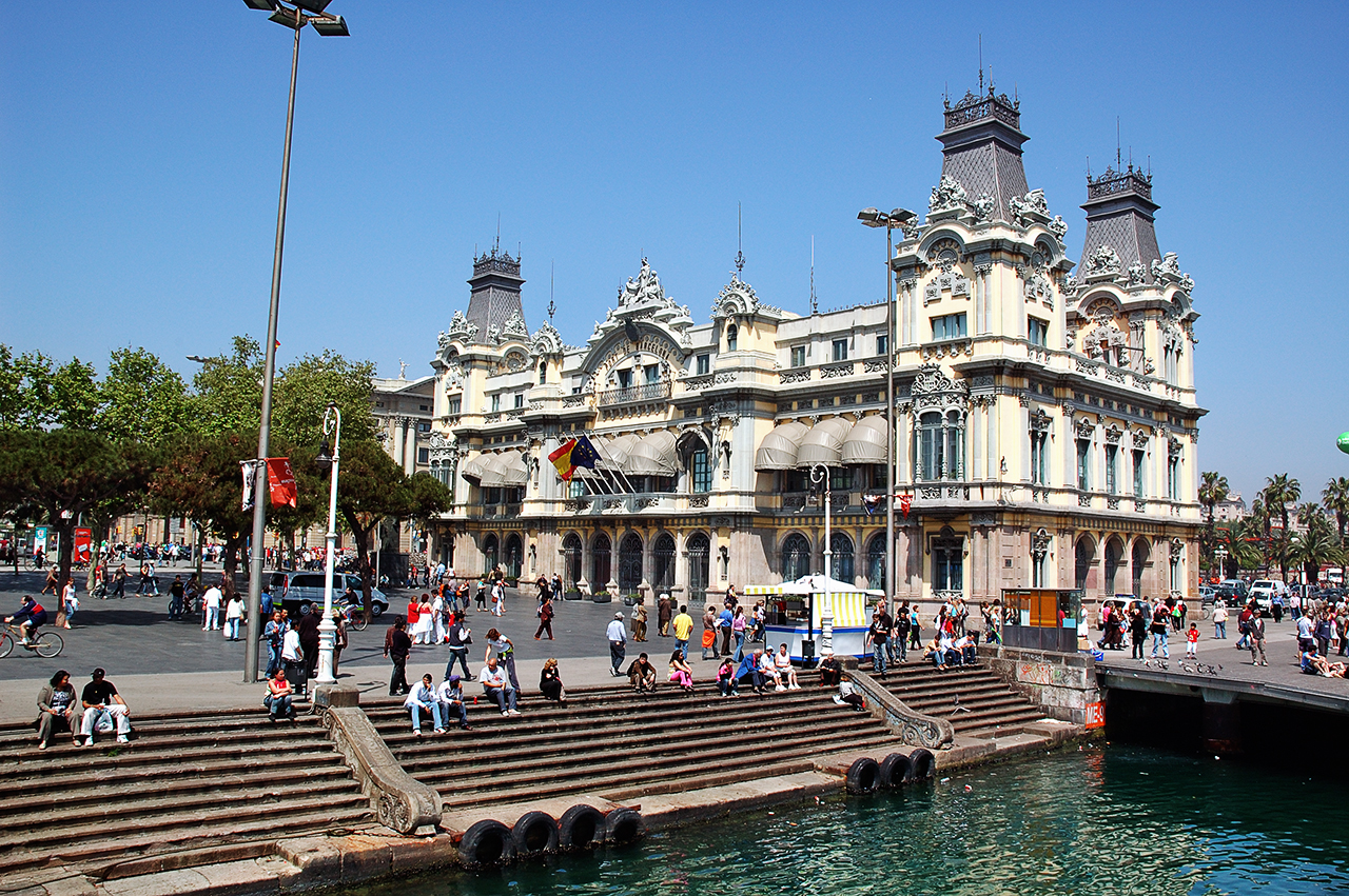 Customs house at Barcelona harbor