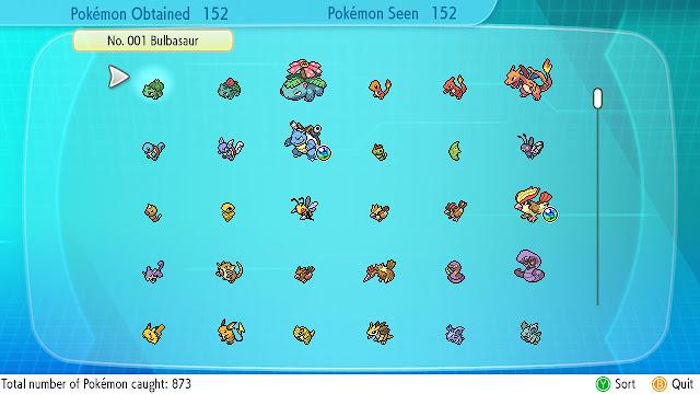 What is left to do in Pokémon Let's Go Pikachu/Eevee? Pokedex