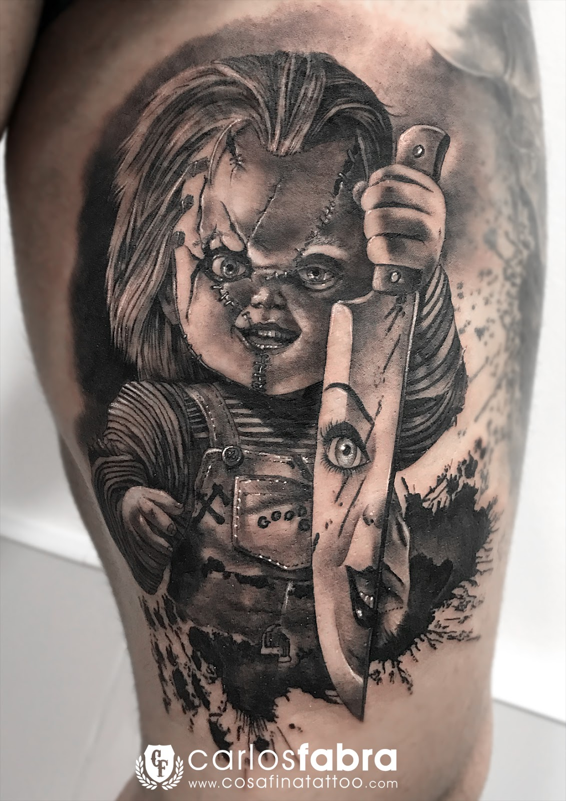 Cosafina Tattoo Carlos Art Studio Tatuaje Chucky Muñeco Diabolico