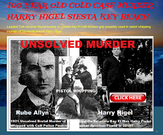 100 YEAR OLD COLD CASE MURDER HARRY HIGEL SIESTA KEY BEACH