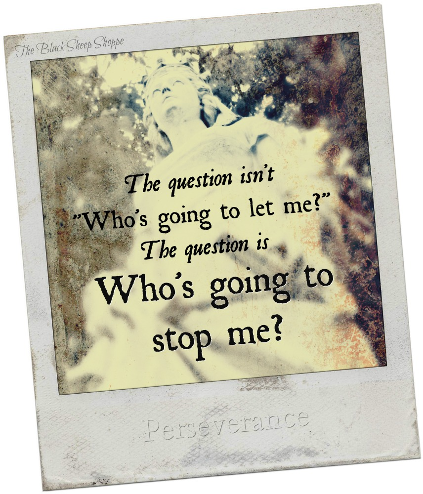 "The question isn't, ""Who's going to let me"". The question is, ""Who's going to stop me?"""
