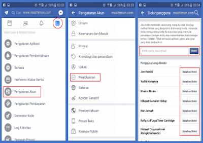 Cara membuka atau membatalkan akun Facebook yang kita BLOKIR dengan mudah
