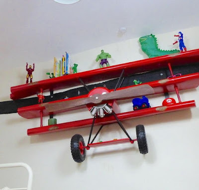 Airplane Wall Shelving