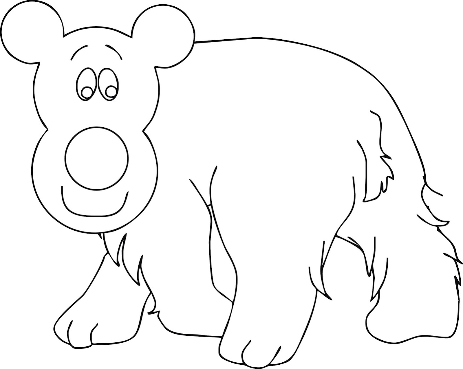 Mewarnai Gambar Beruang Kutub BukanTemanMarsha Contoh