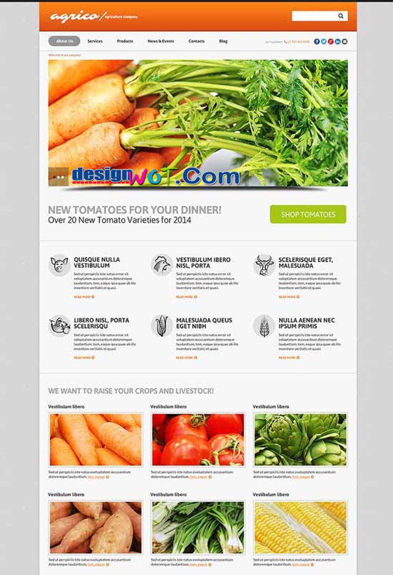 Planting Harvesting Board WordPress Theme
