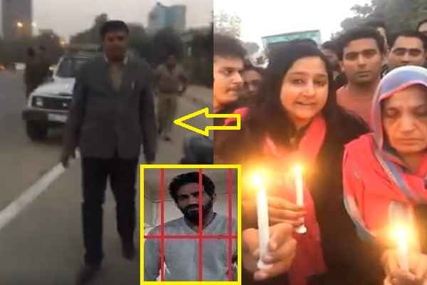 gurugram-police-stopped-bobby-kataria-supporters-from-candle-march