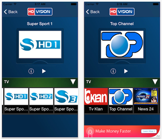 HD VISION AL, shikoni kanalet e Digitalb, Tring dhe