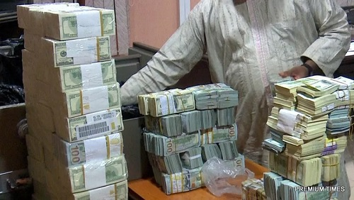 Real Photos Of Mountain Of $9.8m Raw Cash Discovered From Ex-NNP GMD